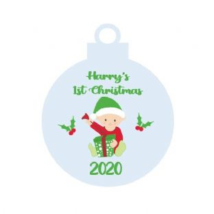1st Christmas Baby Boy Acrylic Christmas Ornament Decoration